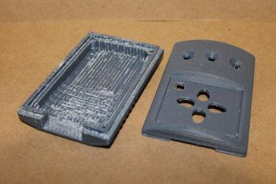отпечатанный на 3д-принтере прототип корпуса с удаленными поддержками