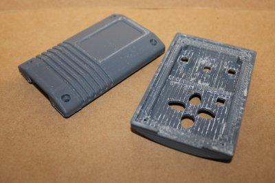 отпечатанная модель корпуса с удаленными поддержками
