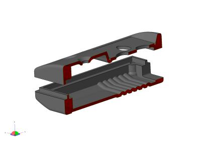 3D-модель корпуса в разрезе